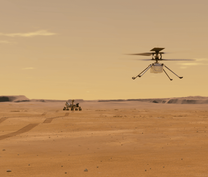 L'hélicoptère martien Ingenuity